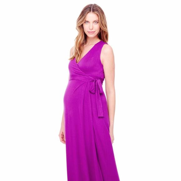 0b298bf9d5a2c Ingrid & Isabel Dresses | Maternity Wrap Maxi Dress | Poshmark